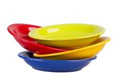 Four colour plates Stock Image