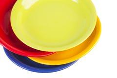 Four colour plates Stock Images