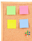 Four colour post-it Stock Photos