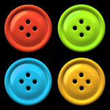 Four colourful buttons Stock Images