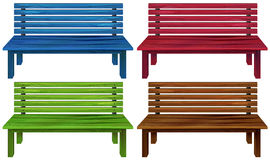 Four colourful chairs Stock Images