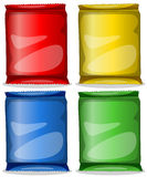 Four colourful containers Royalty Free Stock Photos