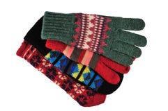 Four colourful gloves Stock Photos