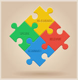 Four Colourful Puzzle Pieces. Business infographic Stock Photography