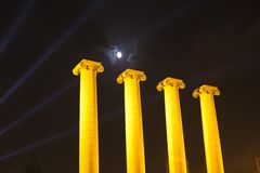 The Four Columns Royalty Free Stock Photography