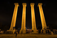 Four Columns in Barcelona Royalty Free Stock Photo