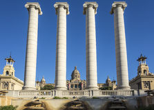 The Four Columns, in Barcelona, Spain Royalty Free Stock Photography