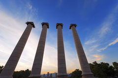 The Four Columns - Barcelona Spain Stock Photography