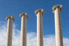Four columns - les quatre columnes in Barcelona Royalty Free Stock Images