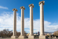Four columns - les quatre columnes in Barcelona Royalty Free Stock Photography
