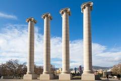 Four columns - les quatre columnes in Barcelona Royalty Free Stock Photography