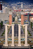Four columns and Plaza de Espana, Barcelona Royalty Free Stock Image