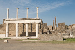Four Columns in Pompeii Stock Images