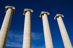 The Four Columns Puig i Cadafalch in Barcelona. Stock Photo