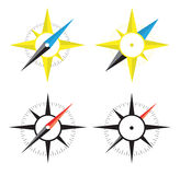 Four compass Stock Photography