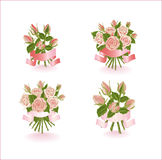Four compositions of roses. Royalty Free Stock Images