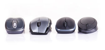Four computer mouse Stock Images