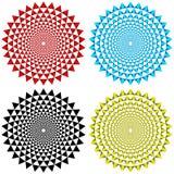 Four Concentric Circular Patterns Stock Photos
