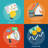 Four concepts steps to success Stock Photo