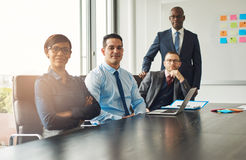 Four confident successful business partners Stock Photography