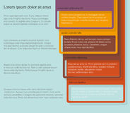 Four consecutive frame elements with lots of room for text and descriptions. Infographics. Four consecutive frame elements of different colors with lots of room Stock Photos
