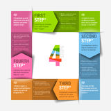 Four consecutive steps cycle Stock Photo