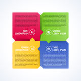 Four consecutive steps design element template Stock Photo