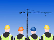 Four construction workers Stock Image
