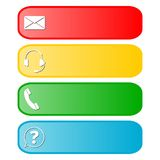Four contact buttons Stock Photo