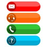Four contact buttons Royalty Free Stock Photo