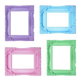 Four contemporary picture frames stock photography