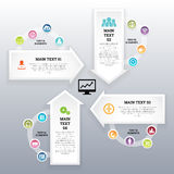 Four Continuous Arrow Infographic Elements Royalty Free Stock Image