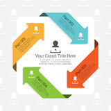 Four Continuous Arrow Infographic. Vector illustration of Four continuous arrow infographic element Stock Images