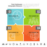 Four Continuous Infographic Elements Stock Photos
