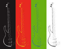 Four contours of a guitar Stock Images