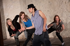 Four Cool Hip Hop Dancers Stock Photos