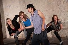 Four Cool Hip Hop Dancers Stock Photos