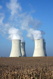 Four Cooling Towers Of Nuclear Power Plant Stock Photos
