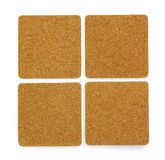 Four cork sheet. Copy space for text Royalty Free Stock Images