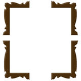Four corner frame on white background Stock Photography
