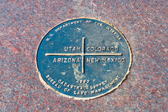 Four Corners Border Marker Stock Photo