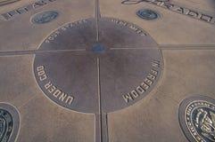 Four corners of Colorado, Utah, New Mexico and Arizona Stock Photo