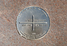 Four Corners Monument. The Four Corners is the only place in the United States where four states come together at one place. Arizona, New Mexico, Utah, and Stock Photo