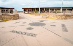Four Corners Monument where New Mexico, Utah, Arizona and Colorado meet royalty free stock images