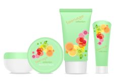 Four cosmetic tubes Royalty Free Stock Images