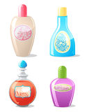 Four cosmetics containers - 2 Stock Photography
