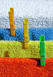 Four cotton towels Stock Photography