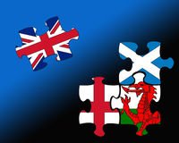 Four country flag jigsaws royalty free illustration