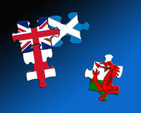 Four country flag jigsaws Royalty Free Stock Image