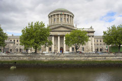 Four Courts. The Four Courts along the River Liffey quayside, Dublin, Ireland Royalty Free Stock Photo